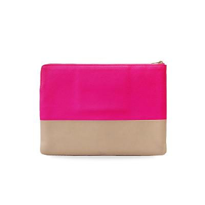 color block clutch pink & nude